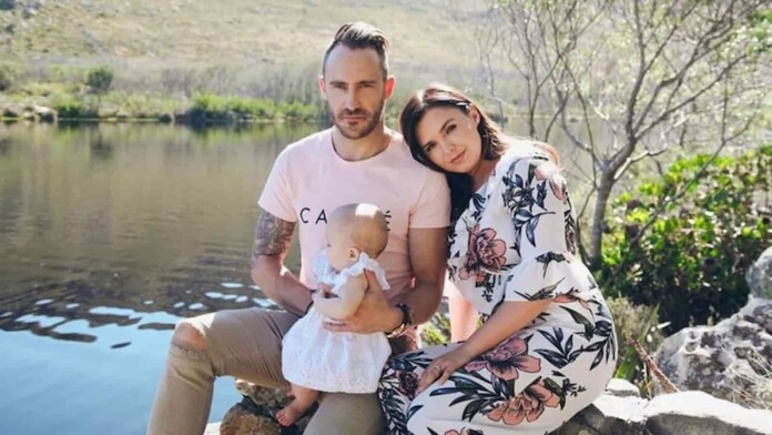 Faf du Plessis with his family