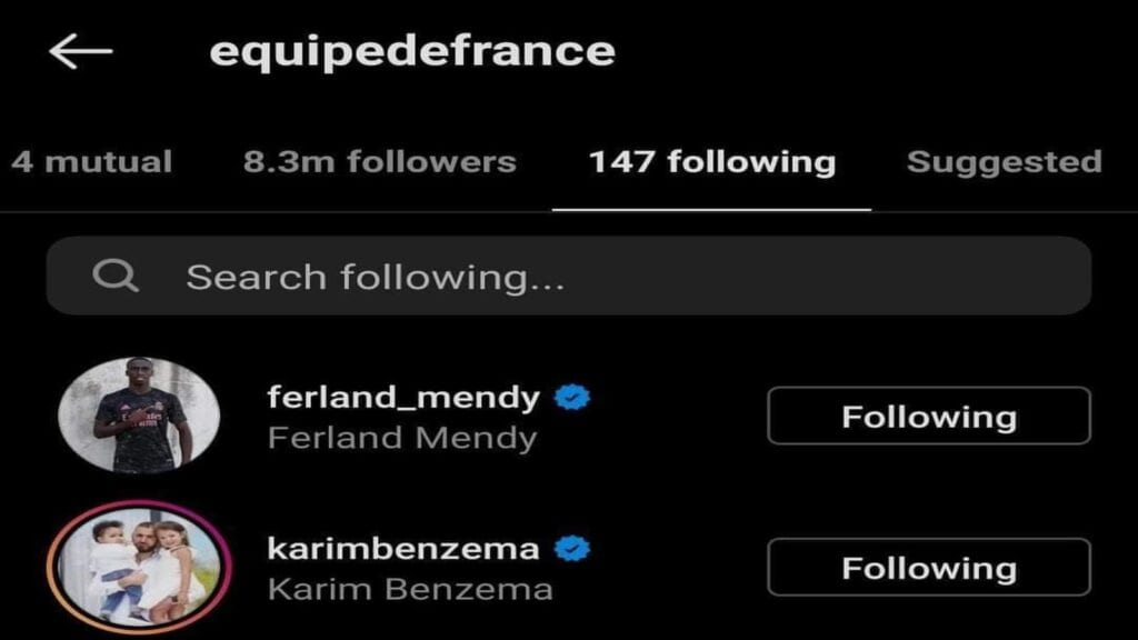 France national team also followed him back
