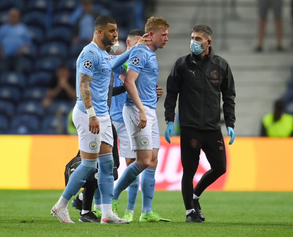 The Manchester City midfielder had to leave the pitch in the second-half of his side's loss to Chelsea on Saturday night.