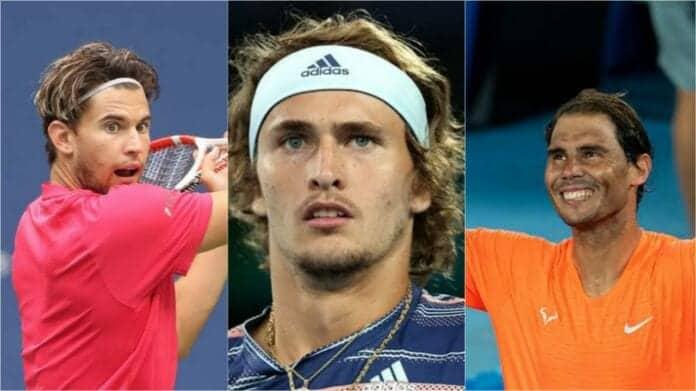 Dominic Thiem, Alexander Zverev, Rafael Nadal