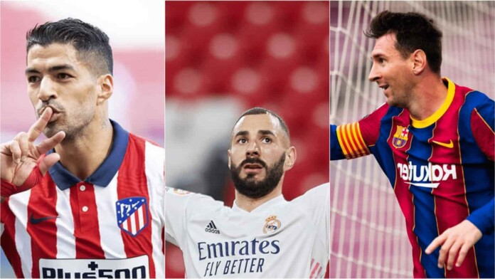 Messi, Benzema and Suarez features in La Liga Team of the Season for 2020-21
