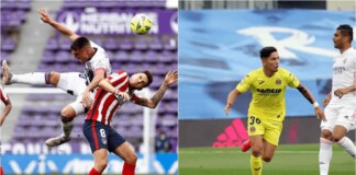 Both Real and Atletico Madrid trail by a goal as they go into half time in their respective games