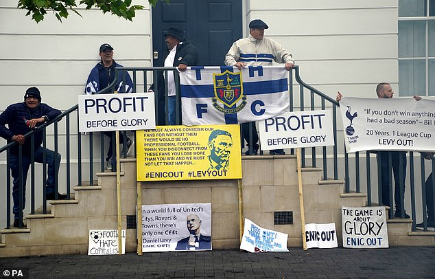 Tottenham fans have been increasingly agitated with the clubs management in recent times
