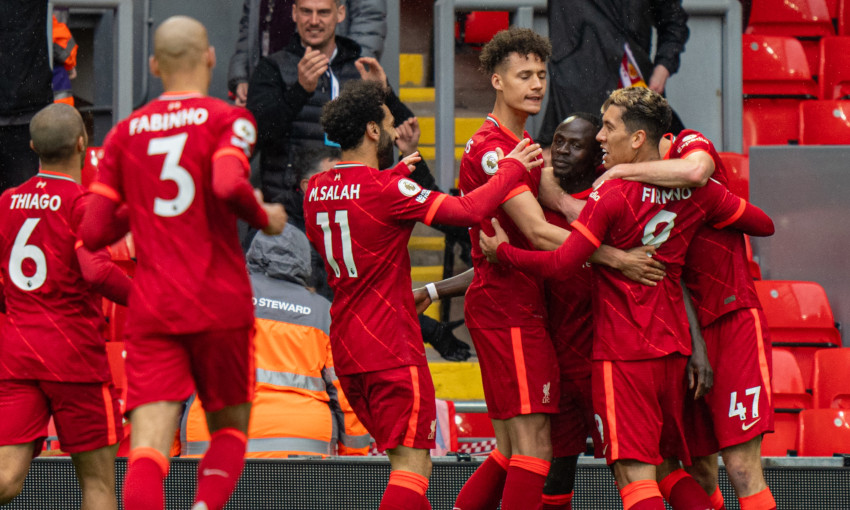 Sadio Mane's double took Liverpool to third place in the standings on Sunday with a 2-0 victory over Crystal Palace, ensuring that a mixed campaign for the defending champions would end on a high.
