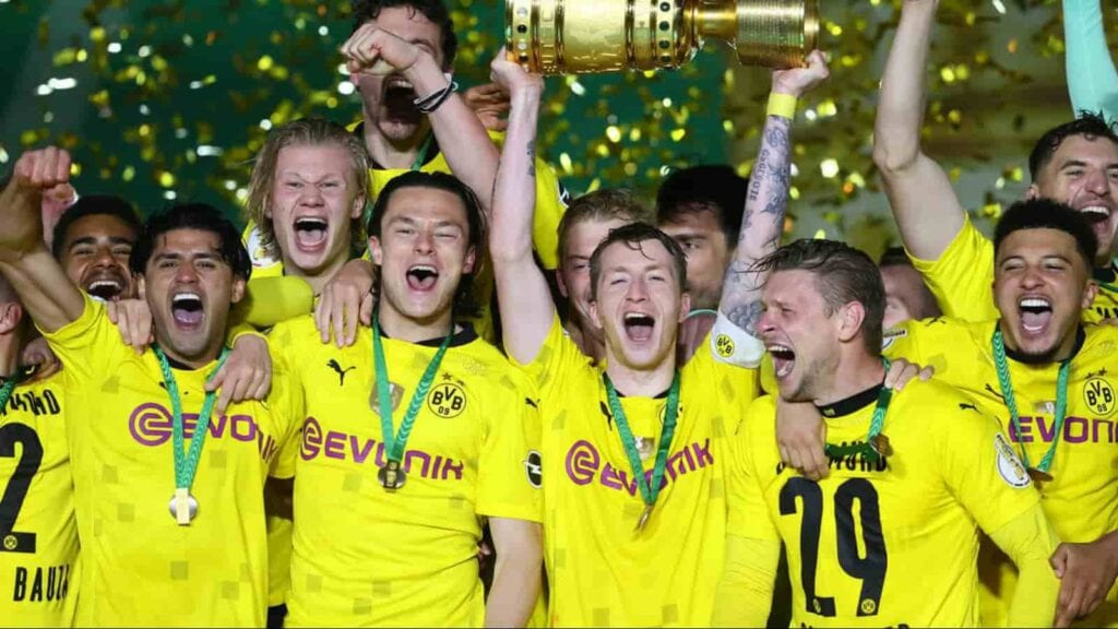 Reus lifted the DFB Pokal Cup with Dortmund this season