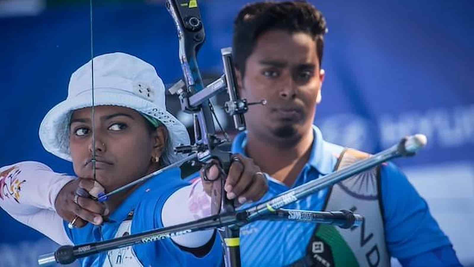 Deepika Kumari and Atanu Das bagged gold at archery world cup