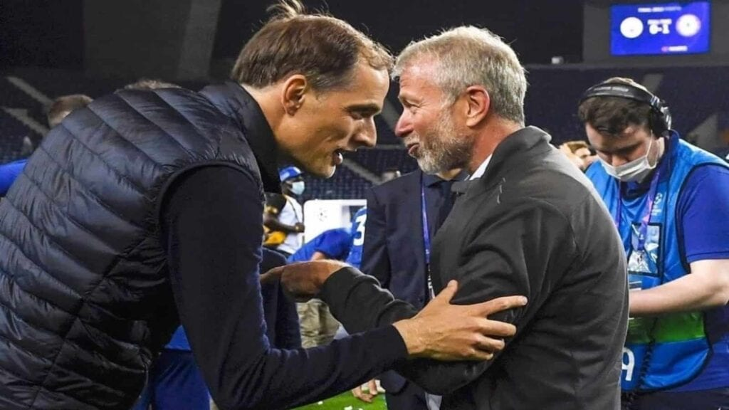 Tuchel met owner Roman Abramovich for the first time yesterday after the match