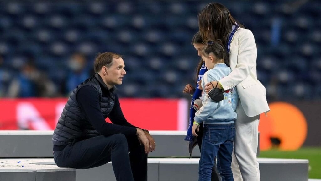 Tuchel spends time with his family amidst celebration