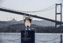UCL trophy on show in Istanbul