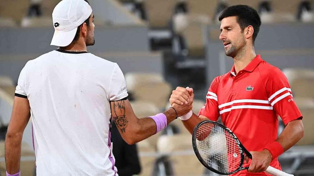 Matteo Berrettini, Novak Djokovic