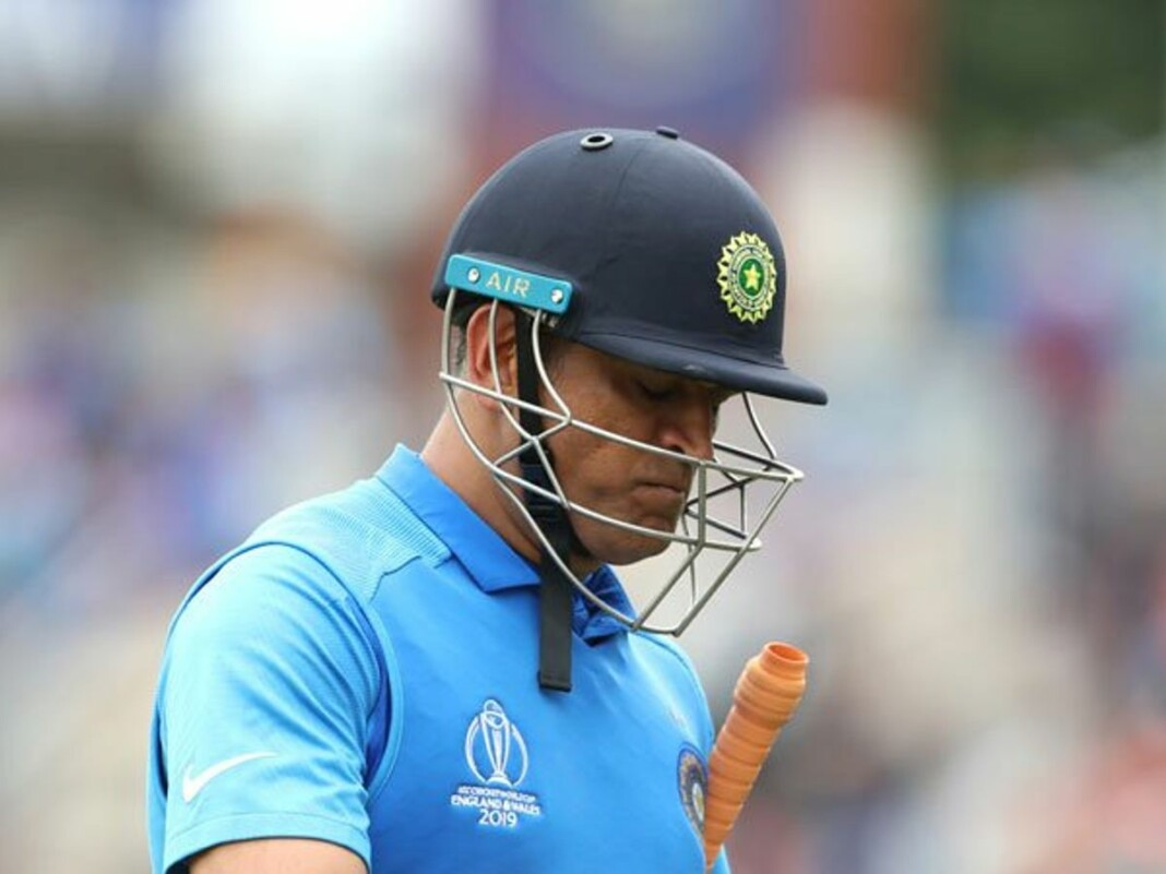 MS Dhoni World Cup 2019 out