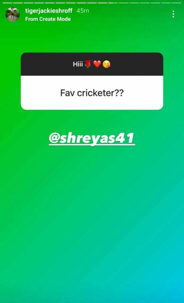 Tiger Shroff's favorite cricketer is Shreyas Iyer