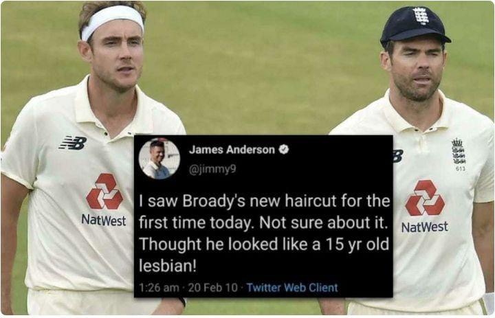Jimmy Anderson tweet