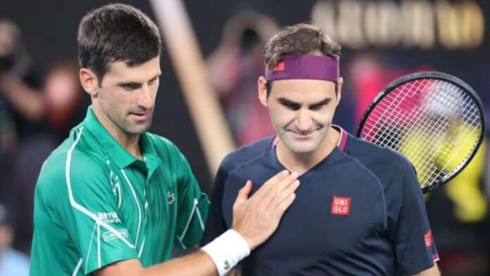 Novak Djokovic and Roger Federer
