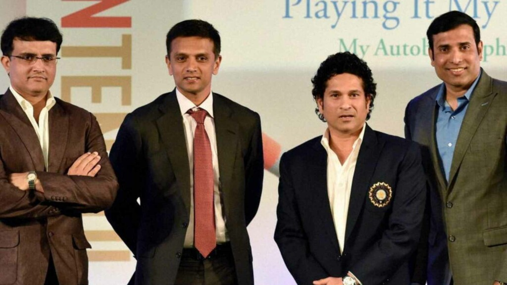 Rahul Dravid Sachin Tendulkar VVS Laxman Sourav Ganguly