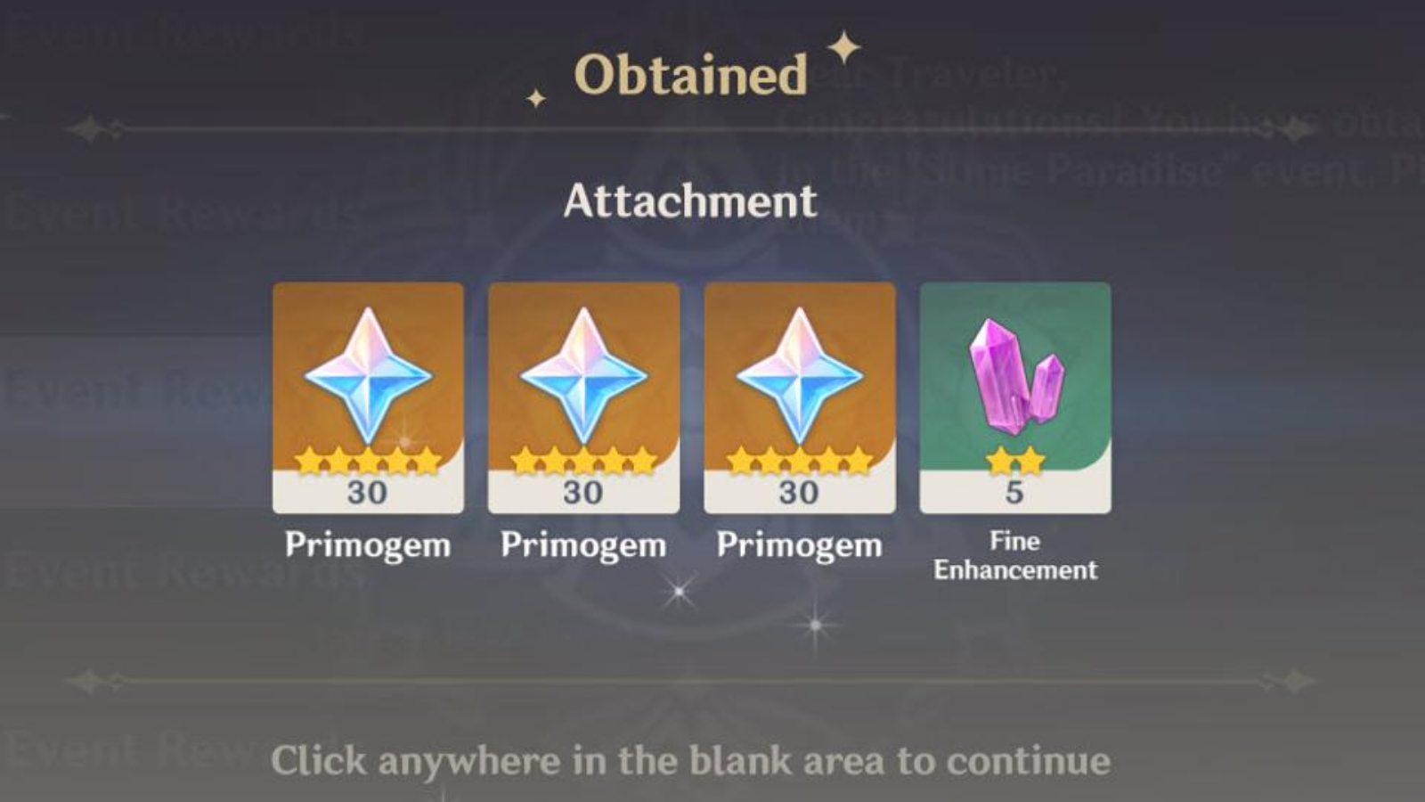 Free Primogems in Genshin Impact