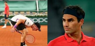 Dominik Koepfer and Roger Federer