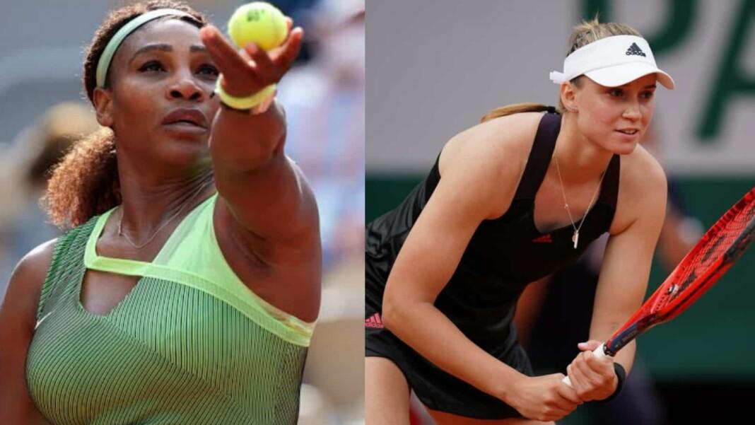 Serena Williams and Elena Rybakina