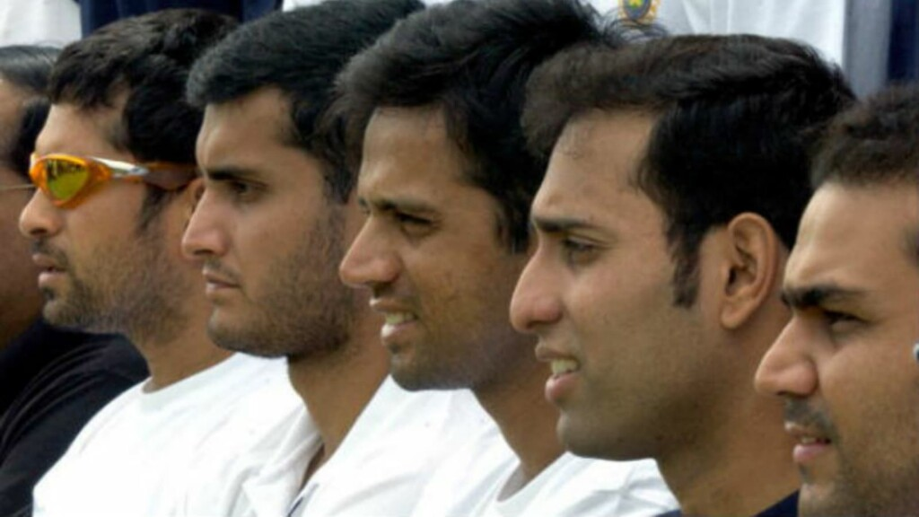 India's Fab Five: Sachin, Ganguly, Dravid, Laxman and Sehwag (L-R)