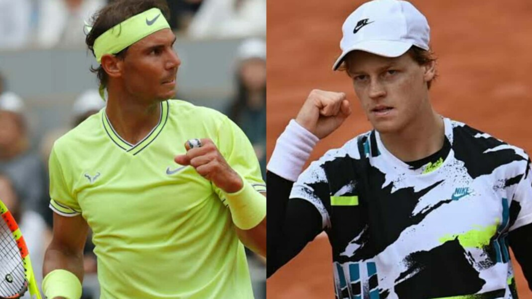 Rafael Nadal and Jannik Sinner