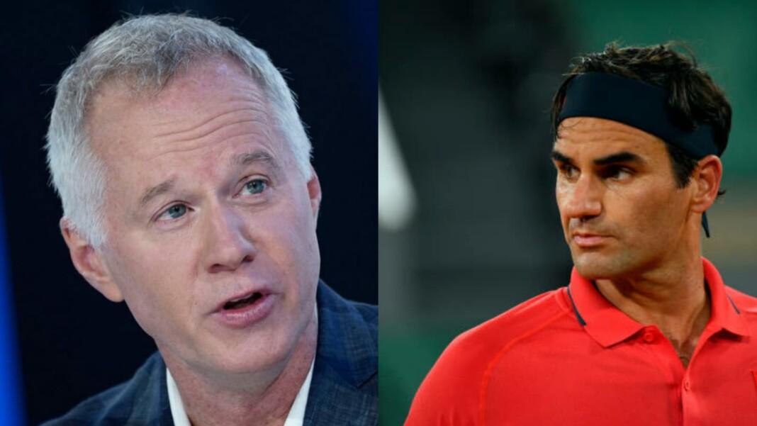 Patrick McEnroe and Roger Federer
