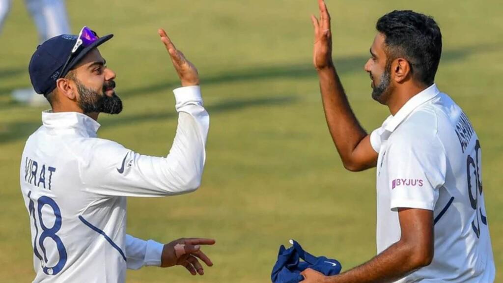 Ashwin celebrates with Kohl