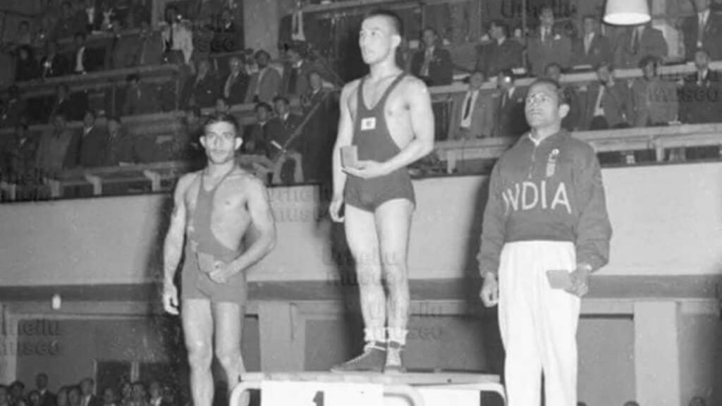 KD Jadhav at the Helsinki Olympics