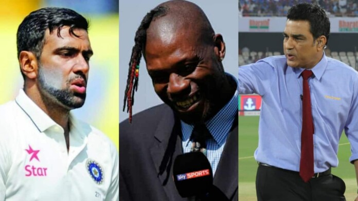 Ravi Ashwin, Curtly Ambrose and Sanjay Manjrekar