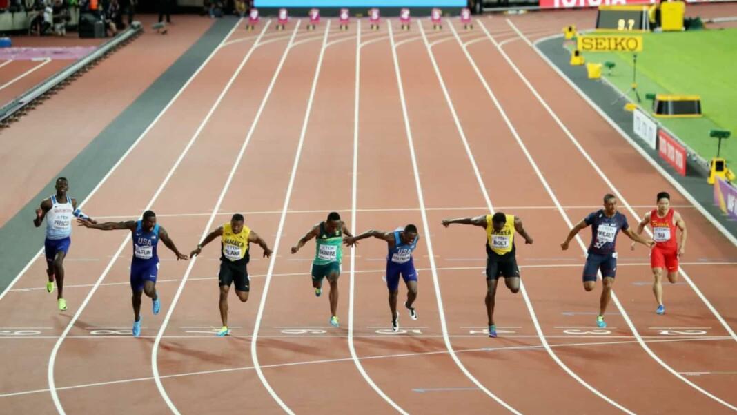 100 m sprint event
