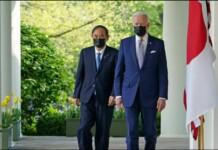 Yoshihide Suga and Joe Biden