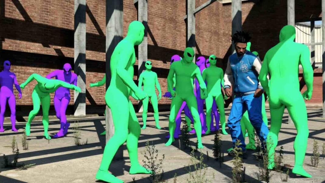 GTA Online Green vs Purple Alien War Explained