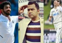 JasJasprit Bumrah, Aakash Chopra and Trent Boultprit Bumrah, Aakash Chopra and Trent Boult