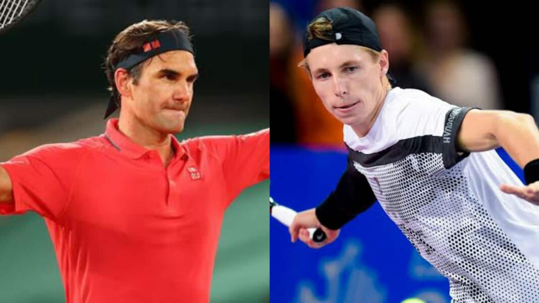 Roger Federer and Ilya Ivashka