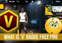 v badge in Free Fire