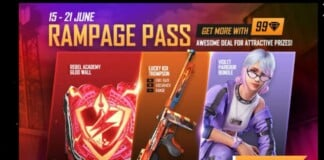 Rampage pass in Free Fire