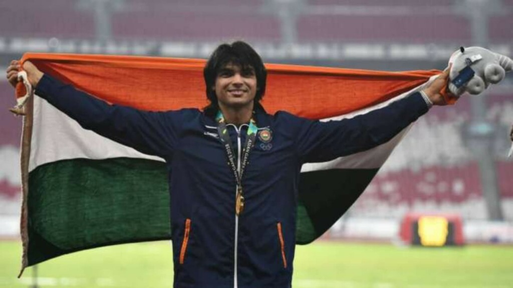 Neeraj Chopra won the Gold Medal at the Asian Championship
