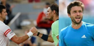 Novak Djokovic, Rafael Nadal and Gilles Simon