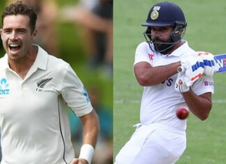 Tim Southee and Rohit Sharma