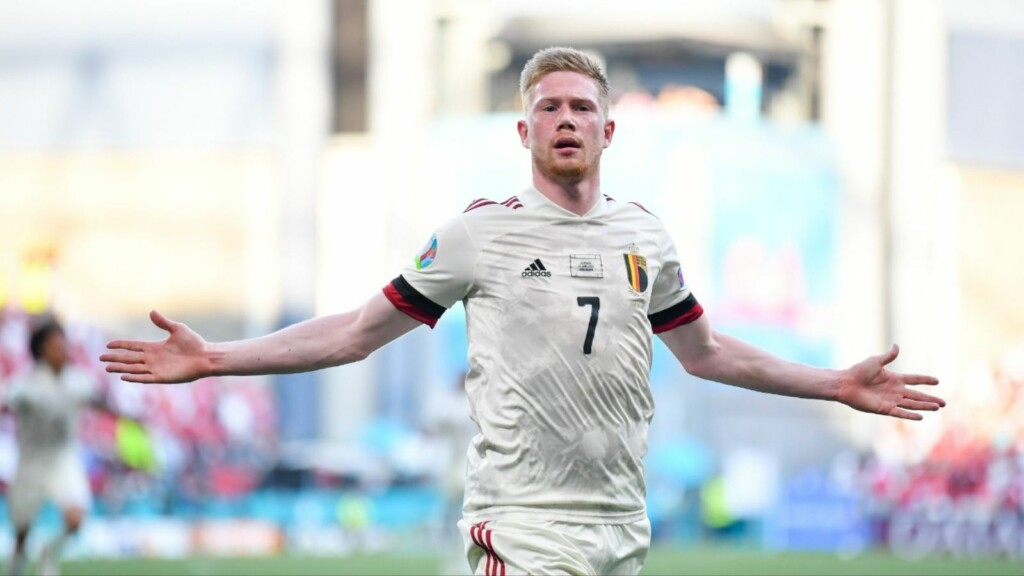 Kevin De Bruyne makes an instant impact on return to action after half-time against Denmark.