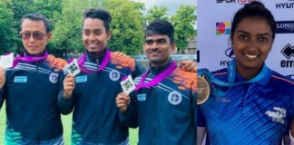 Indian archers at the Tokyo Olympics