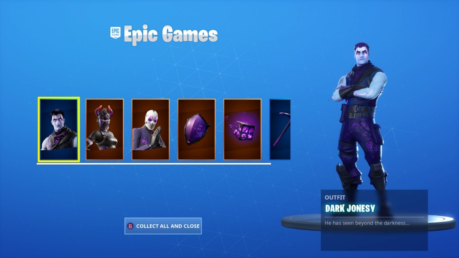 Fortnite Dark Reflections Pack All Set to Return