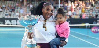 Serena with Daughter Olympia
