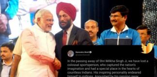 PM Modi's tweet on Milkha Singh's death