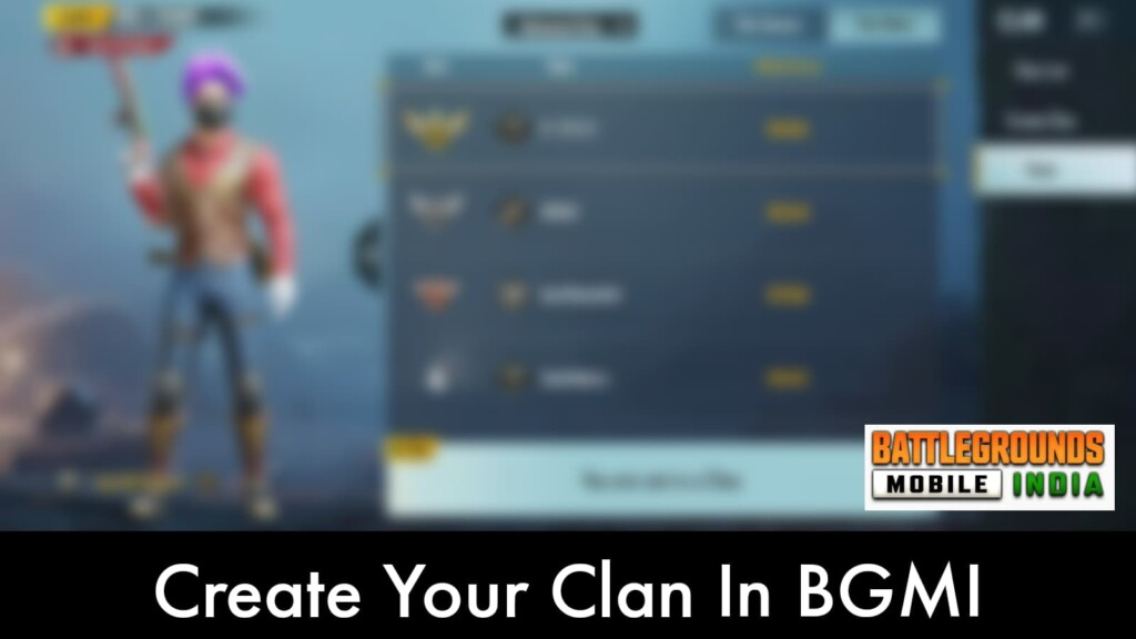 own clan in Battlegrounds Mobile India