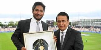 Kumar Sangakkara and Sunial Gavaskar During WTC Final