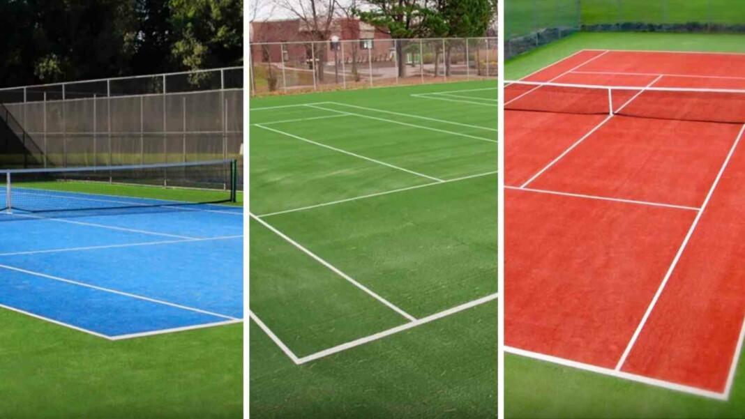 3 main tennis surfaces