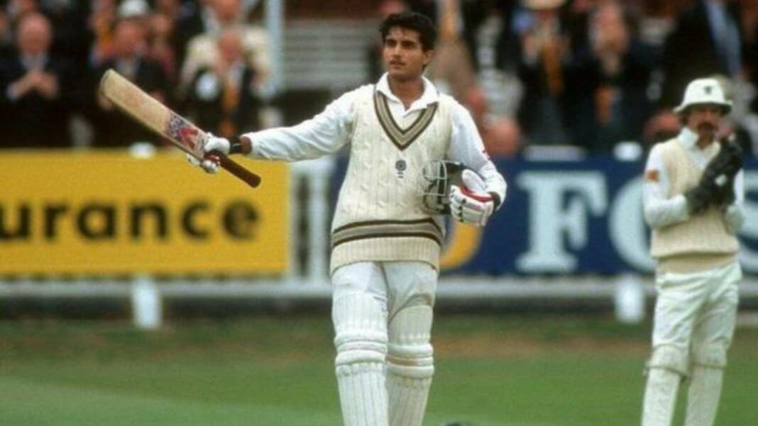Sourav Ganguly maiden Test century