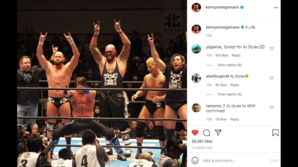 AJ Styles with Kenny Omega