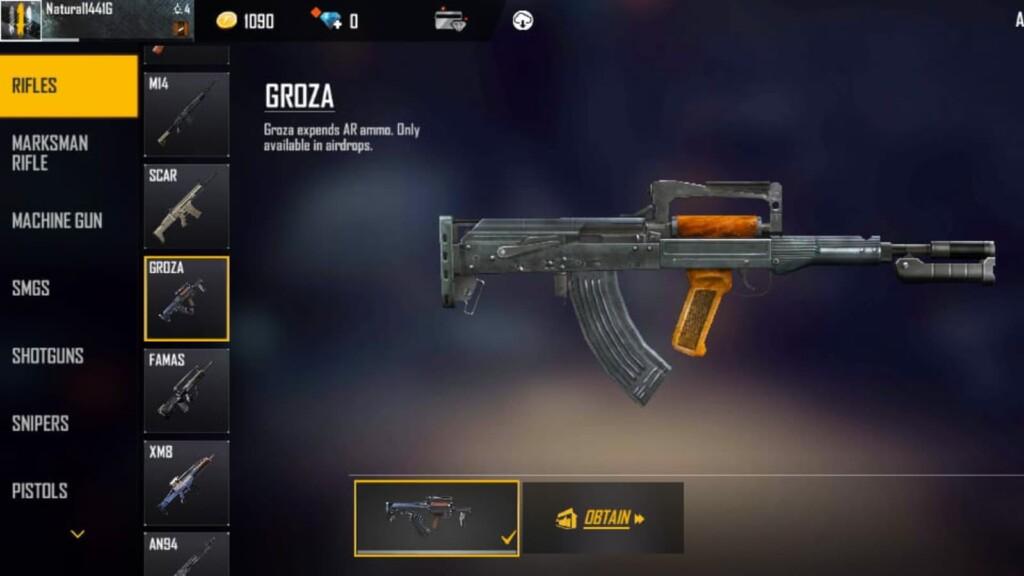 airdrop guns in free fire