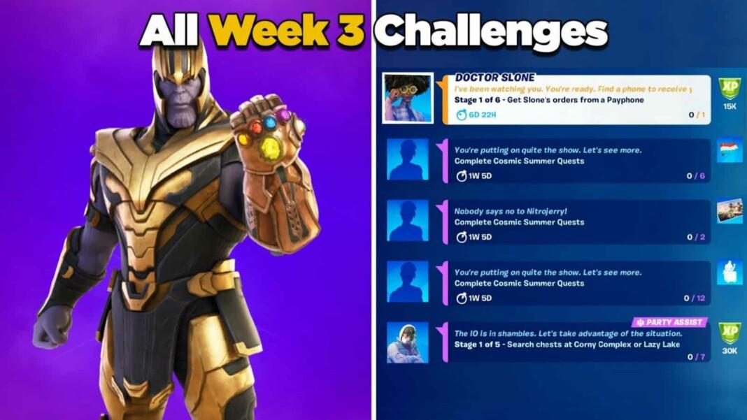 Fortnite Week 3 Challenges in Chapter 2, Season 7